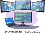 stock market number on screen...