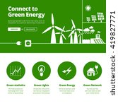 connect to green energy... | Shutterstock .eps vector #419827771