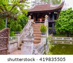chua mot cot pagoda  hanoi ... | Shutterstock . vector #419835505