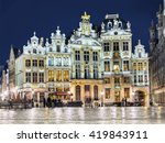 grand place in brussels in... | Shutterstock . vector #419843911