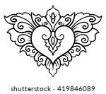 vector design element  contour  ... | Shutterstock .eps vector #419846089