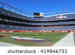 Small photo of DENVER - JANUARY 9, 2014: Sports Authority Field at Mile High in Denver Colorado on January 9, 2014. Sports Authority Field is home to the NFL's Denver Broncos.