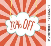sale 20  off. discount tag.... | Shutterstock .eps vector #419852149