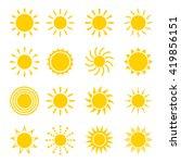 sun icon vector set in a flat... | Shutterstock .eps vector #419856151
