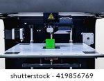 head of 3d printer in action | Shutterstock . vector #419856769