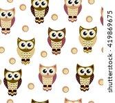 owl  seamless texture | Shutterstock .eps vector #419869675