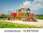 outdoor children playground in... | Shutterstock . vector #419870569