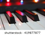 Piano Keys In Colorful Glow