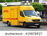 frankfurt germany may 12 dhl... | Shutterstock . vector #419878927