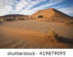 Namibian Orange Sand Dunes ...