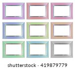 set of modern picture frame... | Shutterstock . vector #419879779