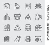 accommodation line icons | Shutterstock .eps vector #419884027