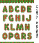 Christmas Vector Alphabet Set ...