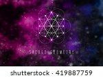 sacred geometry vector design... | Shutterstock .eps vector #419887759