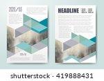 annual report leaflet brochure... | Shutterstock .eps vector #419888431