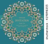 wedding invitation or card with ... | Shutterstock .eps vector #419898355