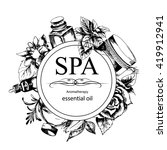 the concept of spa procedure... | Shutterstock .eps vector #419912941
