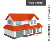 house home icon | Shutterstock .eps vector #419913394