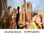 woodturners using a rotating... | Shutterstock . vector #419916691