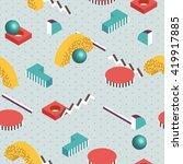 3d isometric background.... | Shutterstock .eps vector #419917885