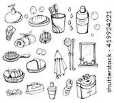 bathroom elements | Shutterstock .eps vector #419924221
