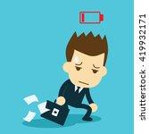 businessman feeling tired of... | Shutterstock .eps vector #419932171