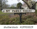 st paul's square street sign ... | Shutterstock . vector #419933329