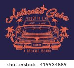 authentic cuba.old cars and... | Shutterstock .eps vector #419934889