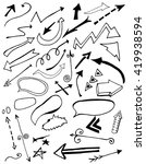 hand drawn isolated sketchy... | Shutterstock .eps vector #419938594