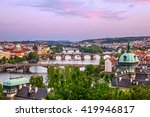 Prague Bridges  City Sunset...