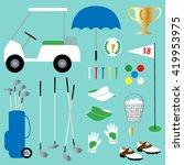 golf clipart | Shutterstock .eps vector #419953975