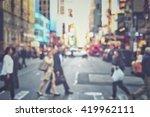 rush hour with defocused of...   Shutterstock . vector #419962111