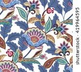 fantasy flowers seamless... | Shutterstock . vector #419964595