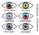 eye logo set. | Shutterstock .eps vector #419968255