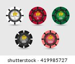 vector poker chips  isolated ... | Shutterstock .eps vector #419985727