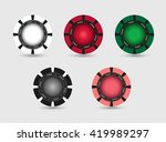 set of casino  poker chips.... | Shutterstock .eps vector #419989297