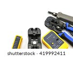 crimping tool for twisted pair... | Shutterstock . vector #419992411