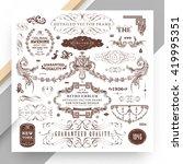 set of vintage decorations... | Shutterstock .eps vector #419995351