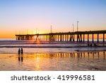 sunset siblings    venice beach | Shutterstock . vector #419996581