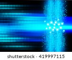blue abstract hi speed internet ... | Shutterstock . vector #419997115
