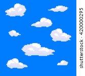 Vector Pixel Art Cloud...