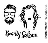 beauty saloon logo  vector...   Shutterstock .eps vector #420000811