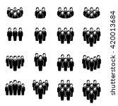 team icon set | Shutterstock .eps vector #420013684