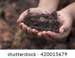 ecology concept. hands holding... | Shutterstock . vector #420015679