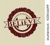 believe grunge stamp | Shutterstock .eps vector #420016699