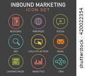 inbound marketing graphic with... | Shutterstock .eps vector #420022354