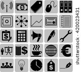 business icon set. 25 icons... | Shutterstock .eps vector #420023431