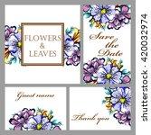 romantic invitation. wedding ... | Shutterstock .eps vector #420032974