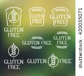 gluten free  handdrawn isolated ... | Shutterstock .eps vector #420035071