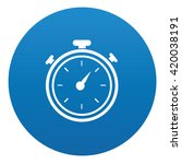 compass icon design on blue...